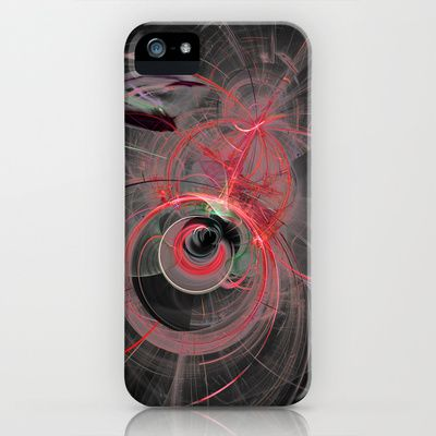 Fractal Design Space Red iPhone & iPod Case by Fine2art - $35.00