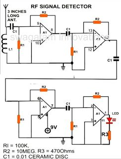 A simple cellphone RF signal detector circuit project is discussed here that may be built by any school student for displaying in a school fair science exhibition.The proposed circuit is a high gain opamp amplifier which detects slightest of RF disturbance that might be created by various electrical systems. Cell phone being the major generator Read More