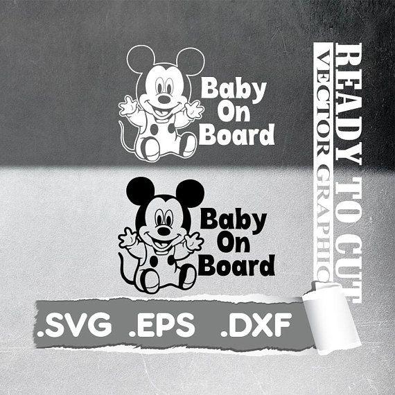 Mickey Baby Svg - Baby mickey Cut Ready Vector File - Svg, Eps, Dxf