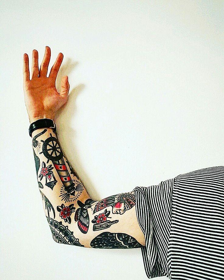 Traditional Tattoo Sleeve #tattoo #sleevetattoo #traditional #tattoos