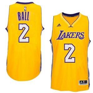 Men's Los Angeles Lakers Lonzo Ball adidas Gold 2017 NBA Draft #2 Pick Replica Jersey