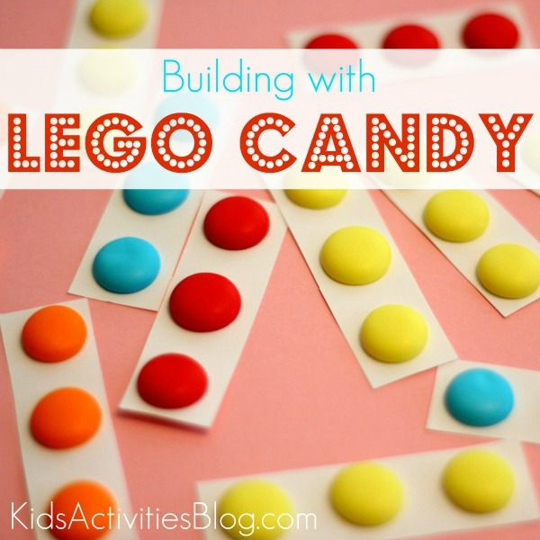 Make lego candy to build with - my boys will love this!    Maybe we can do this for their next birthday party???
