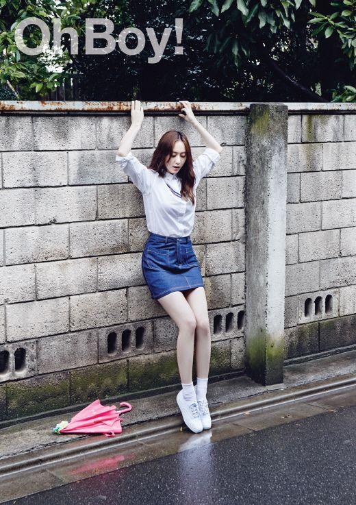 f(x) Krystal - Oh Boy! Magazine June Issue '15