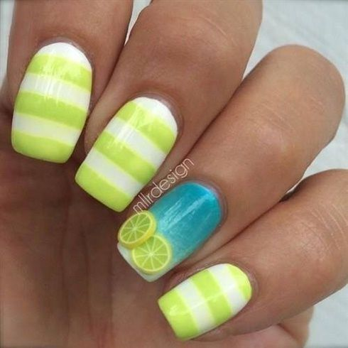 Summer Fruit Nail Art Ideas