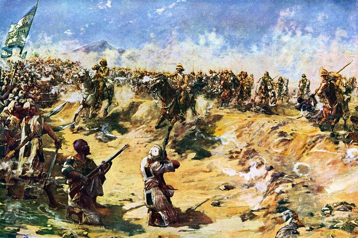 BATTLE OF OMDURMAN. CHARGE OF THE 21ST LANCERS. By Hale