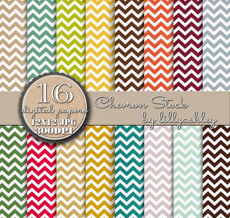 Make it Create by LillyAshley...Freebie Downloads: Freebie Chevron Digital Paper Pack of 16