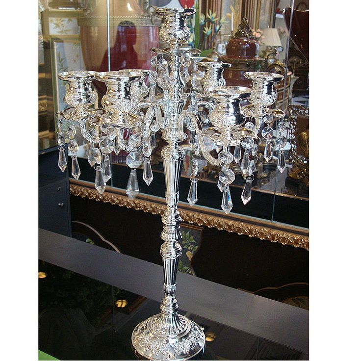 2016 new home decoration silver plated candelabra embossed alloy decorative crystal candle holders retro wedding candlesticks-in Candle Holders from Home, Kitchen & Garden on Aliexpress.com | Alibaba Group