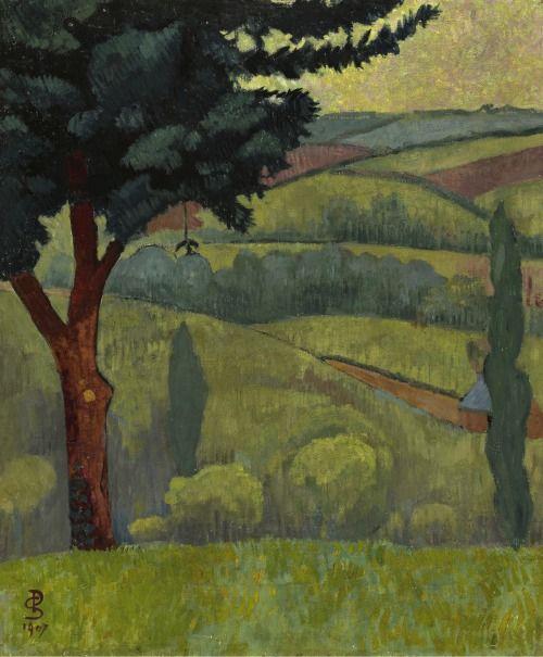 Paul Sérusier (Fr., 1864-1927), Vallée, temps gris, 1907.