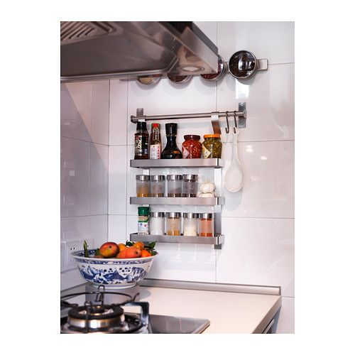 Droppar Spice Jar Frosted Glass Stainless Steel