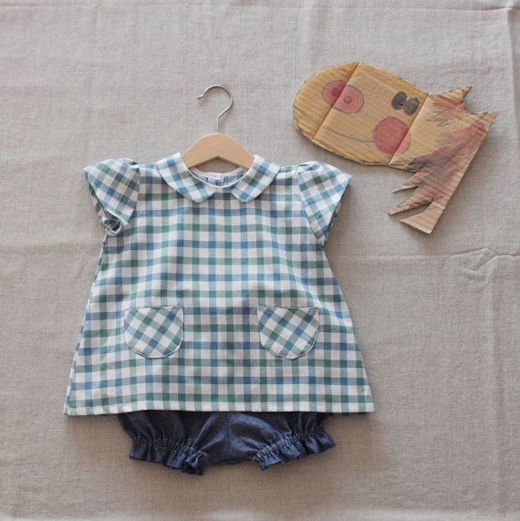 Pony baby girl heirloom two pieces outfit. Baby by bymamma190