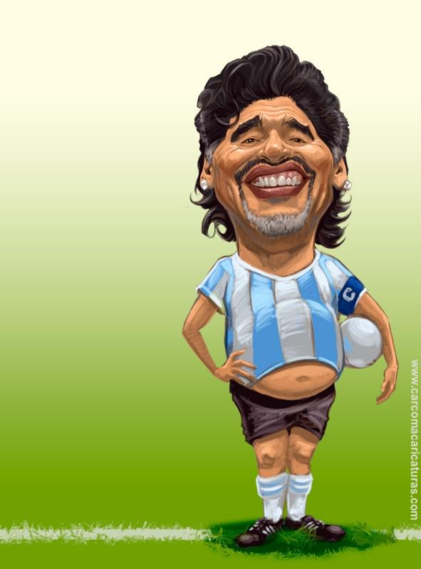 Diego Maradona  carcoma caricatura