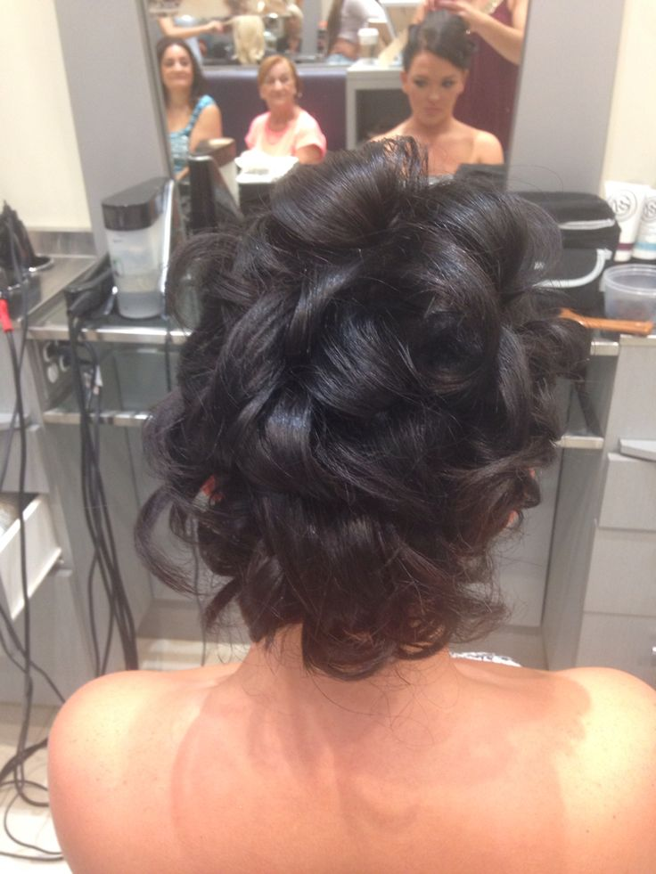 Pretty little updo by moi