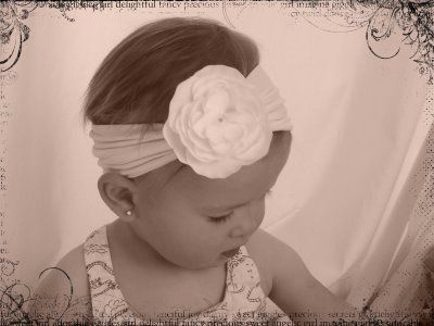 For Judith Allan!!   Super easy tutorial on making headbands out of baby tights