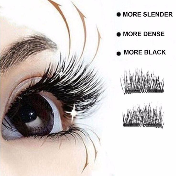 2 Pairs Glue-free 3D Magnetic False Eyelashes Handmade Thick Style