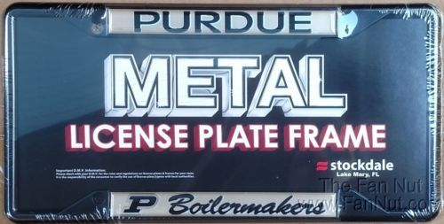 Purdue-Boilermakers-SD-Deluxe-BLACK-Metal-License-Plate-Frame-Cover-University
