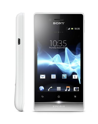 """Xperia Miro by Sony. A stylish social phone, powered by the Android platform, Ice Cream Sandwich, comes in eye catching and stylish design, feature unique illuminations light for incoming messages, Facebook updates and more,  5 megapixel camera, record video at 30 frames per second, 3.5"""" screen display. http://www.zocko.com/z/JKQ49"""