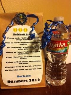 ... Softball Gift, Softball Baseball, Softball Party, Softball Ideas
