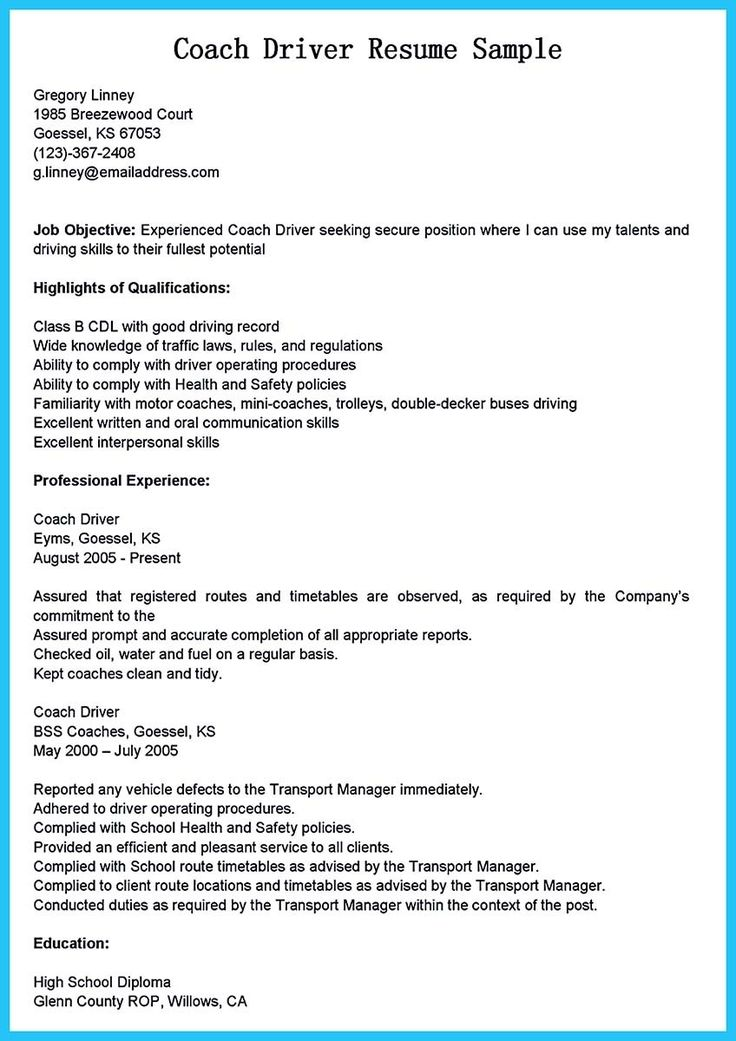 awesome Stunning Bus Driver Resume to Gain the Serious Bus Driver - sample bus driver resume