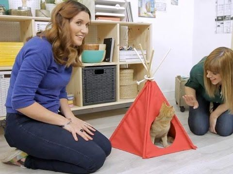 Pin It or Bin It: How to make a cat teepee - YouTube