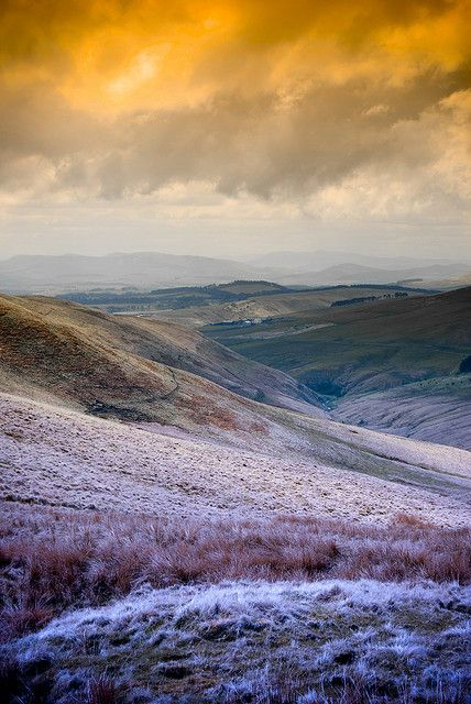 View across the frosted Pentlands Hills ~ Scotland