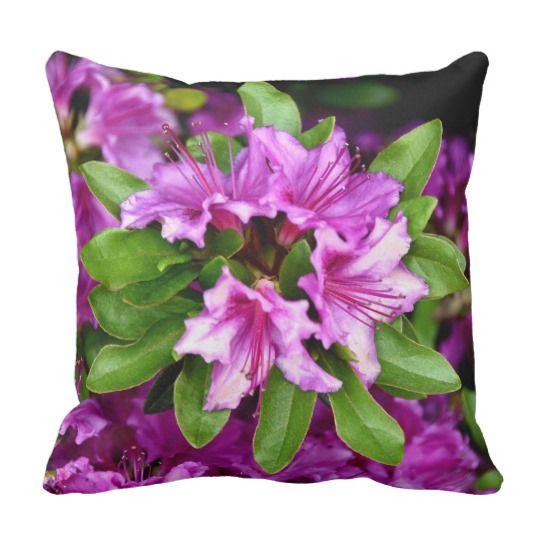 Azelia Throw Pillow by www.zazzle.com/htgraphicdesigner* #zazzle #gift #giftidea #throw #pillow #throwpillow #cushion #azelia #flower #flowers #fuschia #nature #spring #summer