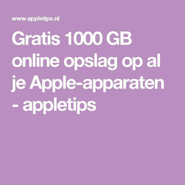 Gratis 1000 GB online opslag op al je Apple-apparaten - appletips
