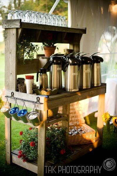 coffee bar. ...this would also work well for a hot cocoa bar!