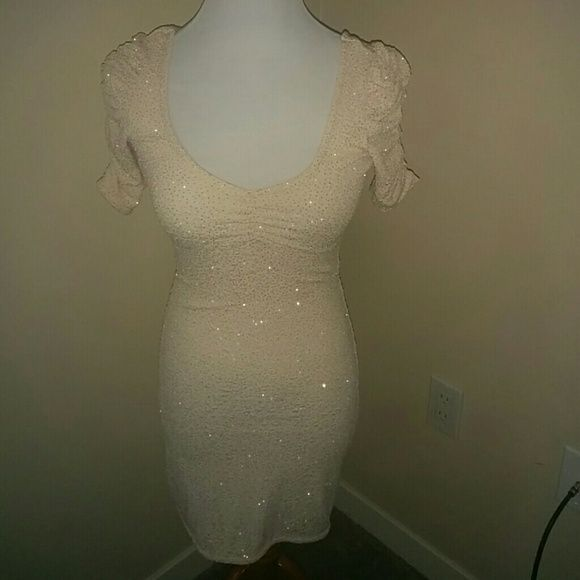 H & M sparkle dress Nude short dress w sparkles. H&M Dresses