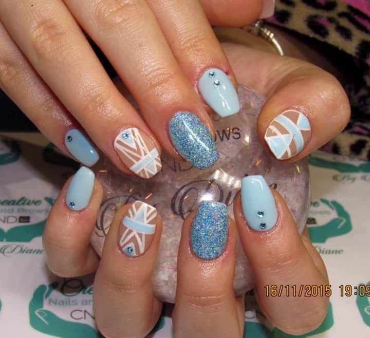 31 best fabulous foils images on pinterest nailart makeup and amy westlake has been inspired by brand ambassador amanda to create these beauties using blue hlographic prinsesfo Images