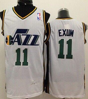 Utah Jazz #11 Dante Exum White Swingman Jersey