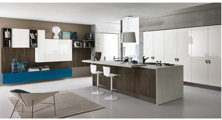 A splash of blue for our #Love #Colour in the #Kitchen month. #Eurocasa