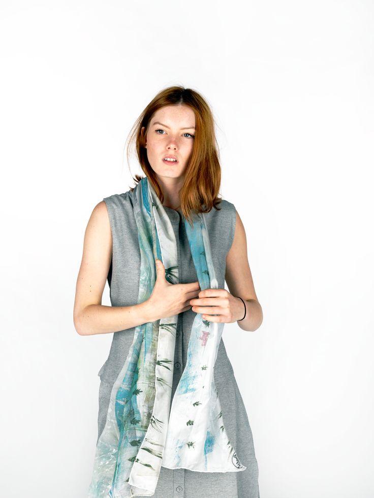 Daubs & Dashes: Osar silk scarf - Iceland Collection A/W 16