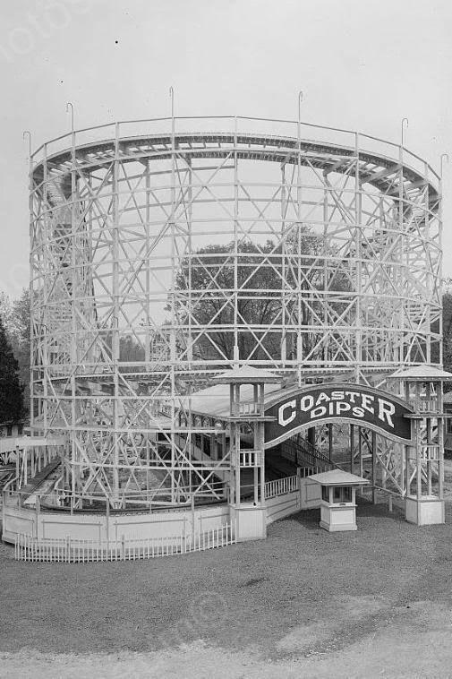 Glen Echo Dips Roller Coaster 1920s 4x6 Reprint Of Old Photo