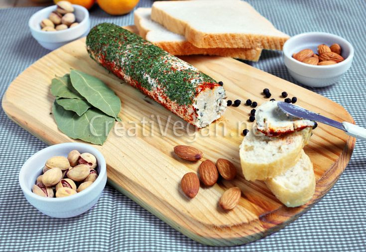 Queso vegano al ajo y hierbas -- Homemade Vegan Cheese with garlic and herbs (in Spanish with translator)