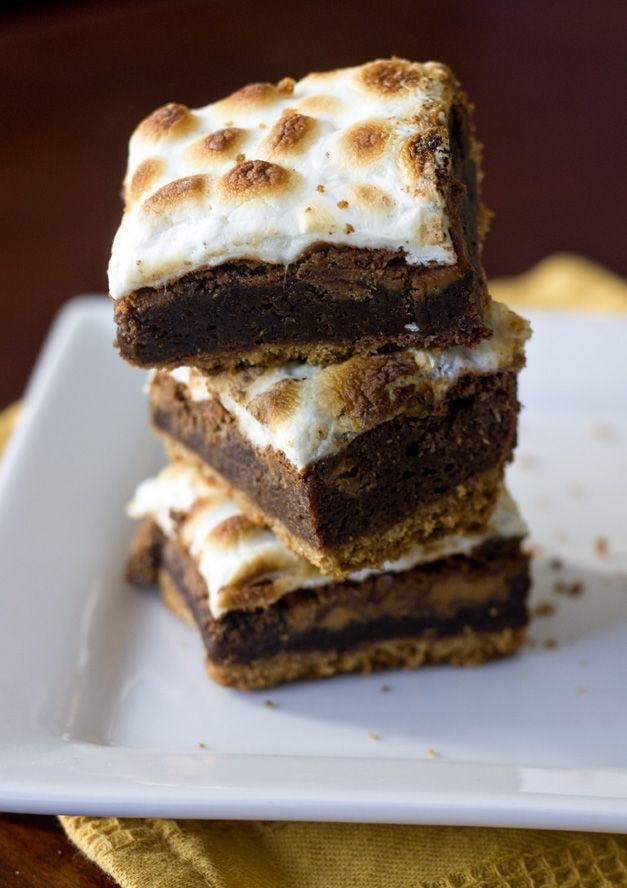 Peanut butter Smore Brownies... I may have found the brownie recipe I ...
