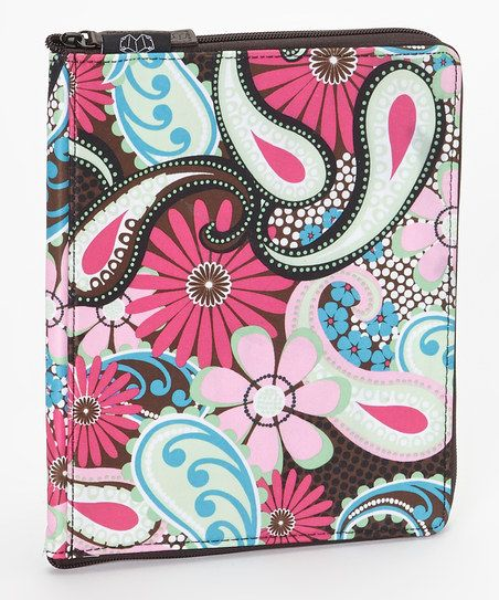 Pink & Blue Paisley Techster Case for iPad