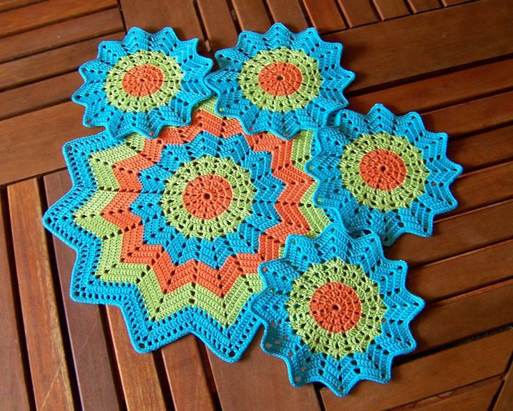 Crochet Placemat and Doily Crochet Coasters