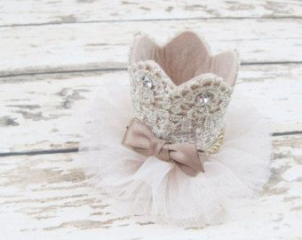 Birthday Girl Crown Hair Clip/Princess crown by APPLEMINTHOUSE