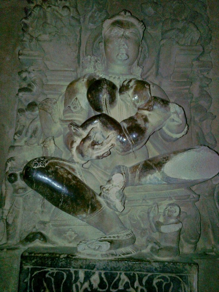 Image of Mother breast feeding her son. These type of statues are very common on the walls of Khajuraho Temples. They are best example of Khajuraho Sculptures.