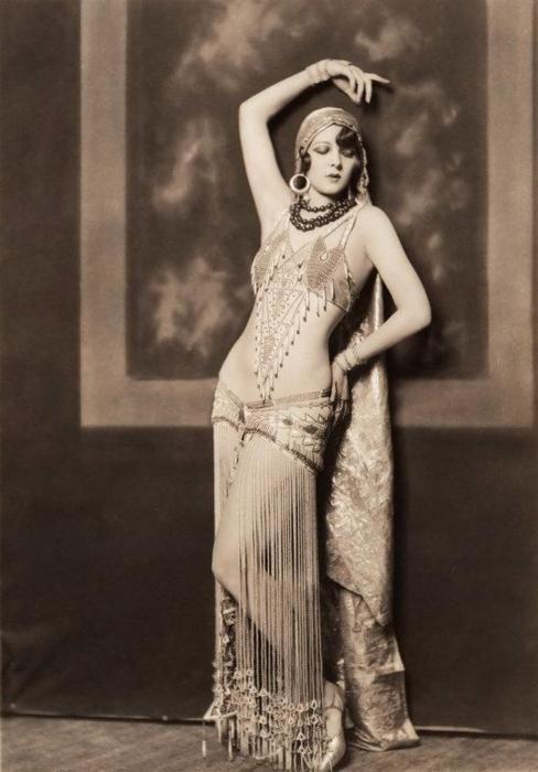 Vintage belly dance costume.