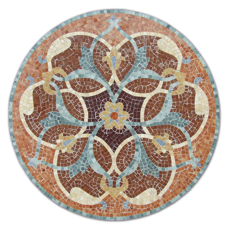"Persia medallion 36"" by Appomattox Tile Art - oooooo!  what a lovely paper mosaic project this would be"