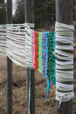 Would be great for kids at camp - weave your rug, cut off the tree, tie the fringe.