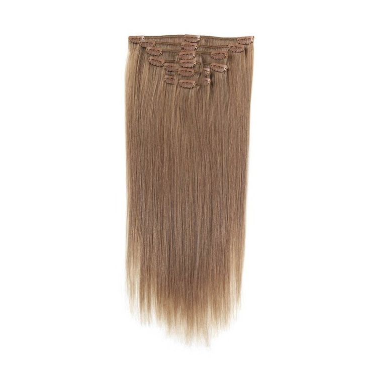 Full Head | Clip in Hair Extensions | 18 Inch | Light Mousey Brown (18)