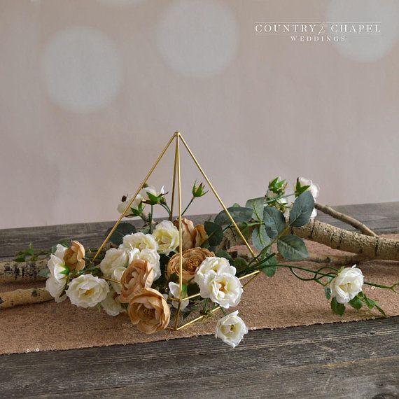 Or rose cuivre verre vase décoration maison cadeau ornement floral Display