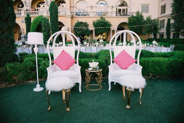 Outdoor Garden Wedding Reception in Las Vegas at the Hilton Lake Las Vegas | Outdoor Las Vegas wedding venues (Ivan Diana Photography)