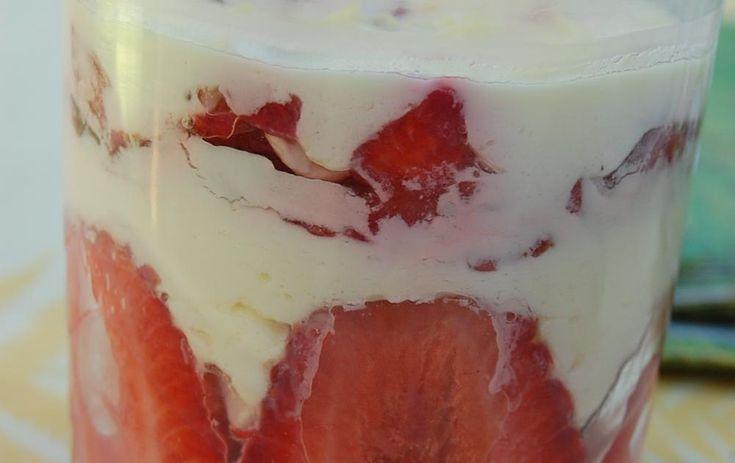 Tiramisu fraises basilic