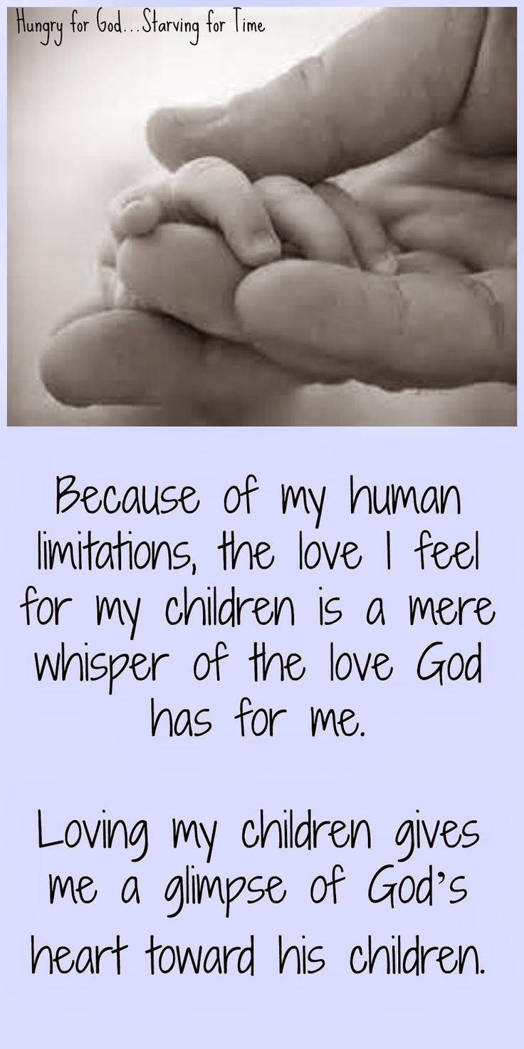"""We think we're training our children, but usually God is using them to teach us. Double click on the image to read the 5-minute devotion, """"Hungry for God: 5 Things Parenting Taught Me About God Part I."""""""