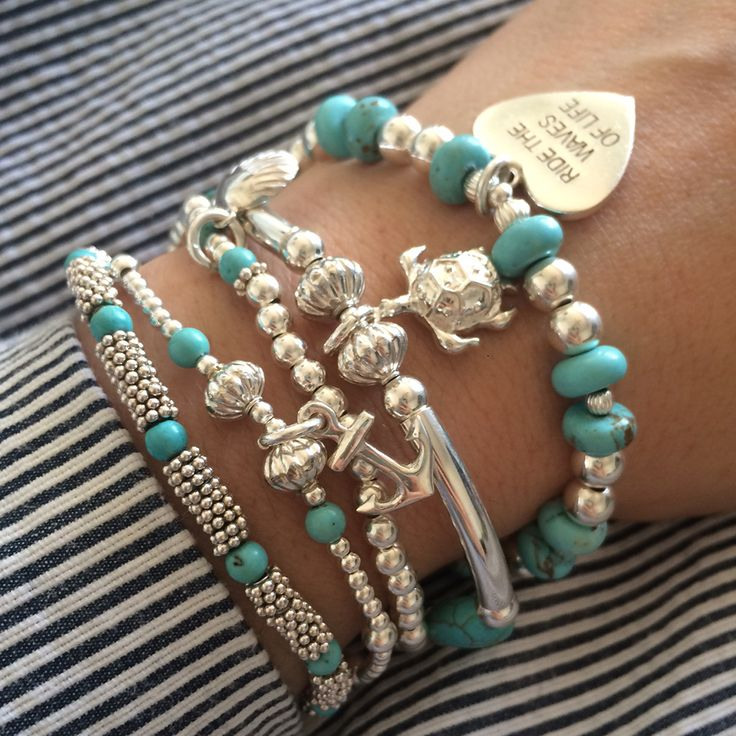 Don't float trough life, make some waves with #AnnieHaaks Ride the Waves of Life 5 Strand Bracelet #AnnieHaak