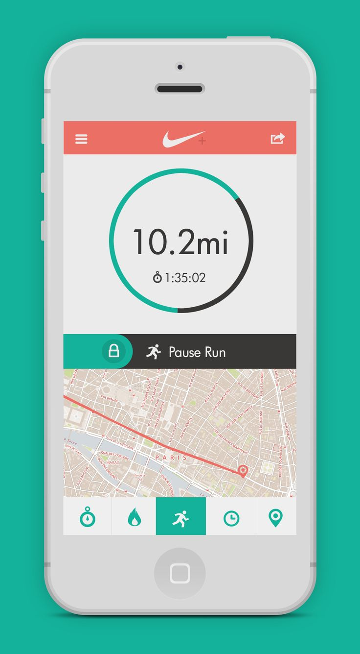 Dribbble - nike-run-app.jpg by Jason Kendall