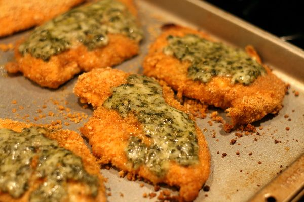 Baked Italian Chicken with Pesto